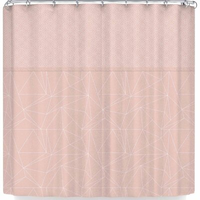 Pia Schneider Geometric Shower Curtain Color: Beige