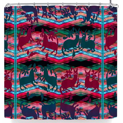 Victoria Krupp Fiesta Animals Shower Curtain