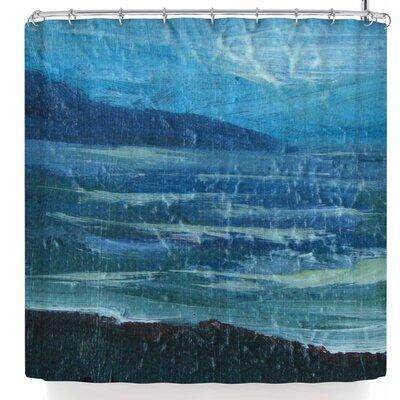Cyndi Steen Moolight Beach Shower Curtain