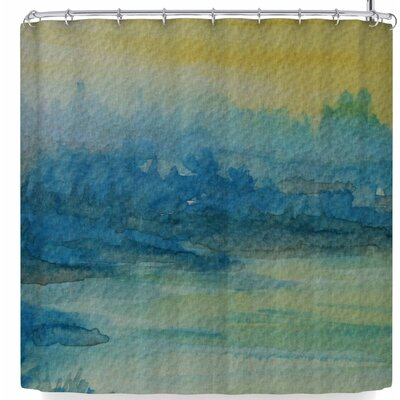 Cyndi Steen Misty Lake Shower Curtain