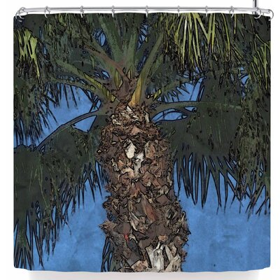 Cyndi Steen Palm Tree Shower Curtain