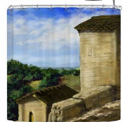 Cyndi Steen Puycelci Tower Shower Curtain