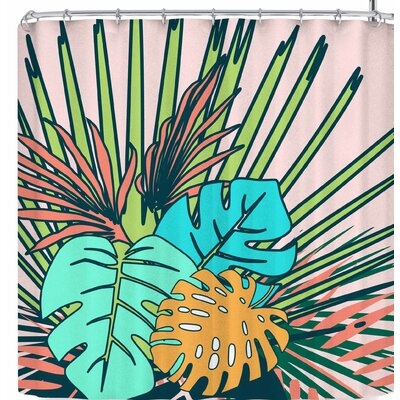 Bruxamagica Tropical Leaves Shower Curtain