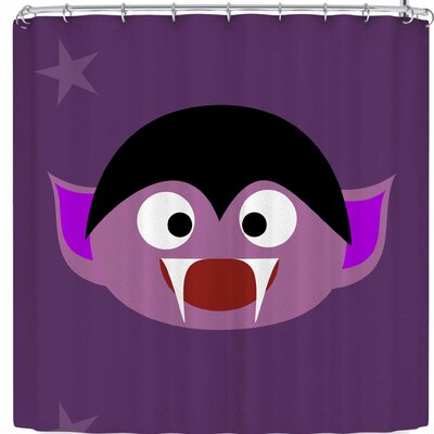 Bruxamagica Cute Halloween Dracula Shower Curtain