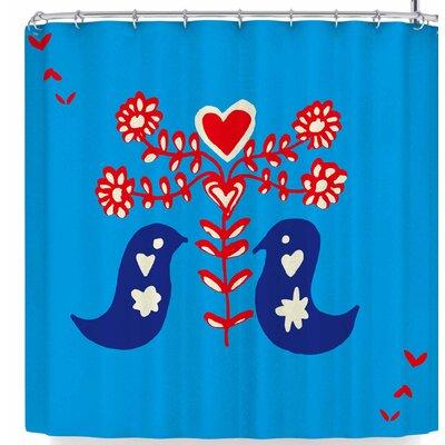 Bruxamagica Folk Bird Shower Curtain