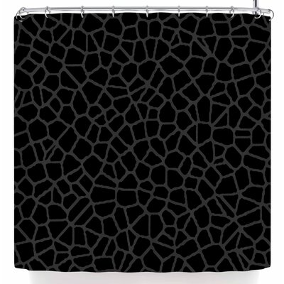 Trebam Staklo Shower Curtain Color: Black/Dark Olive