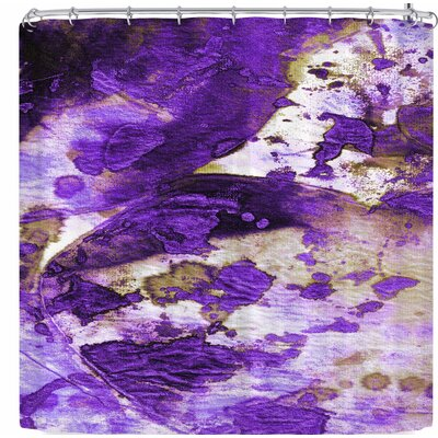 Ebi Emporium Color Blots 6 Shower Curtain Color: Purple