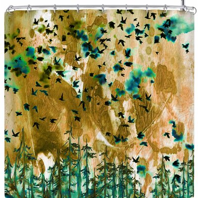 Ebi Emporium Were Better Together Shower Curtain Color: Tan