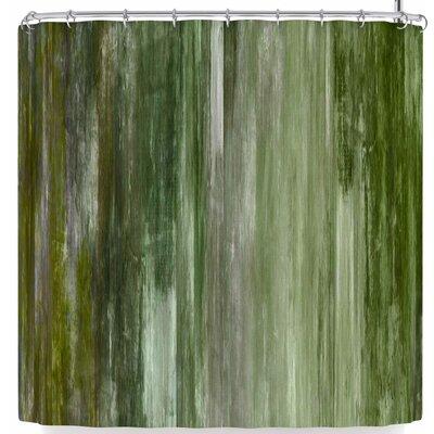 Ebi Emporium Waterfall Blur Shower Curtain Color: Green