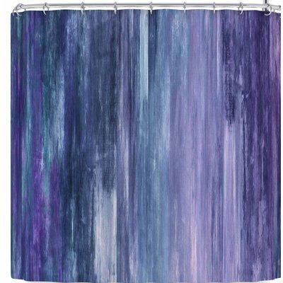 Ebi Emporium Waterfall Blur Shower Curtain Color: Purple/Blue