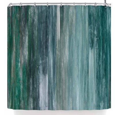 Ebi Emporium Waterfall Blur Shower Curtain Color: Teal Blue