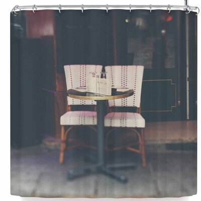 Laura Evans A Paris Cafe Shower Curtain