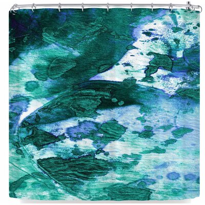 Ebi Emporium Color Blots 6 Shower Curtain Color: Green/Blue