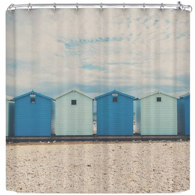 Laura Evans All The Blues Shower Curtain