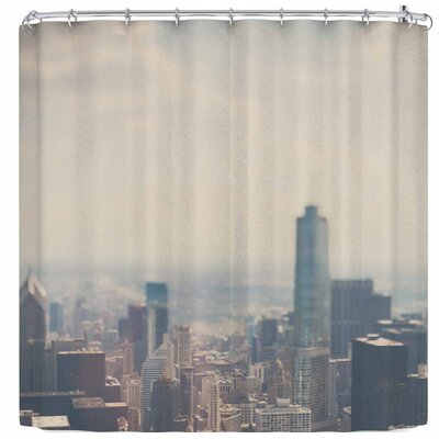Laura Evans Chicago From Above Shower Curtain
