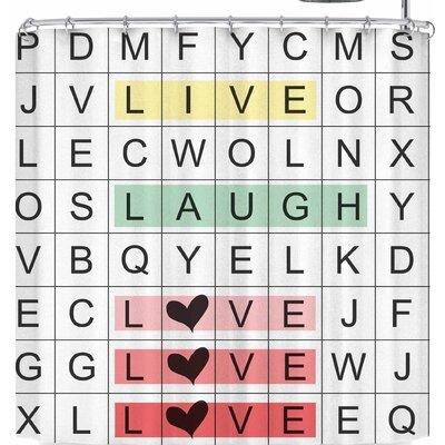 Lousie Machado Word Search Shower Curtain