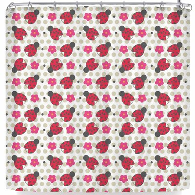 Louise Machado Ladybug Shower Curtain