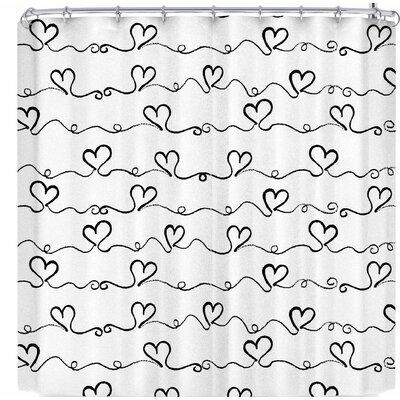 Louise Machado Heart Wave Shower Curtain