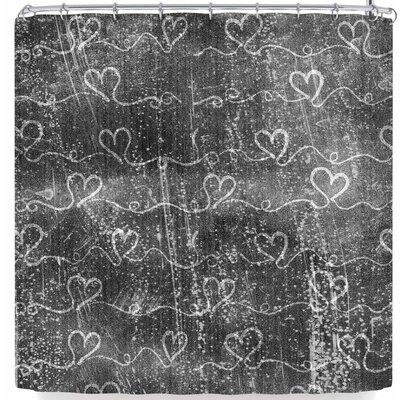 Louise Machado Heart Wave Metalic Shower Curtain