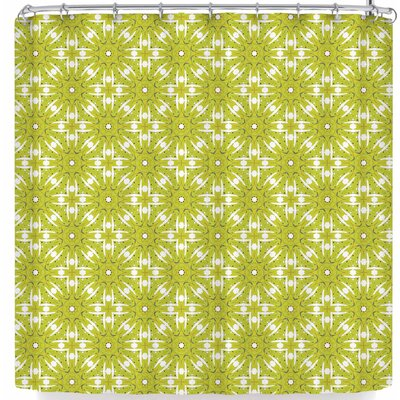 Laura Nicholson Maple Leaves Geometric Shower Curtain