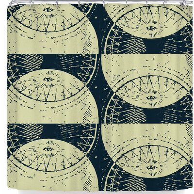 Laura Nicholson Eye of The Moon Shower Curtain
