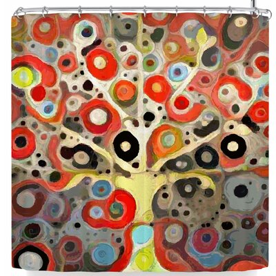 Laura Nicholson Tree Rings Shower Curtain