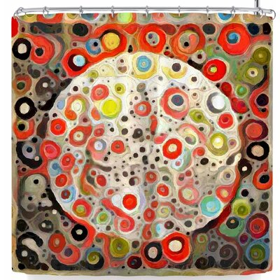 Laura Nicholson Moon Shawl Craters Shower Curtain