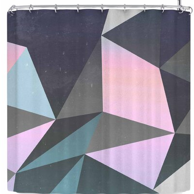 Cafelab Sunrise Geometry Shower Curtain