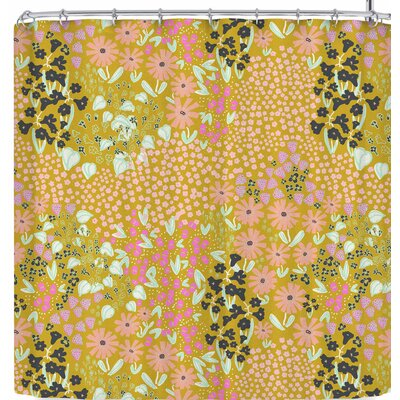 Akwaflorell Colorful Garden3 Shower Curtain Color: Dark Green