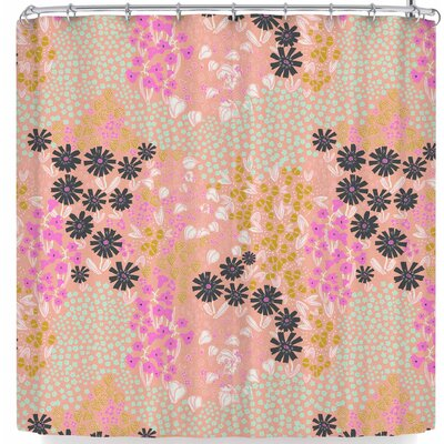 Akwaflorell Colorful Garden3 Shower Curtain Color: Light Pink