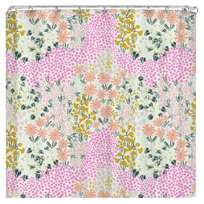Akwaflorell Colorful Garden3 Shower Curtain Color: Pink