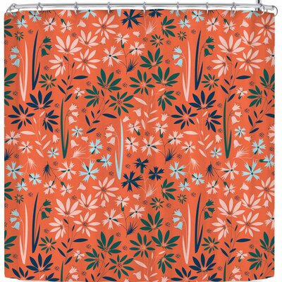 Akwaflorell Meadow3 Shower Curtain Color: Orange