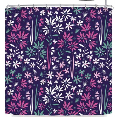 Akwaflorell Meadow3 Shower Curtain Color: Purple