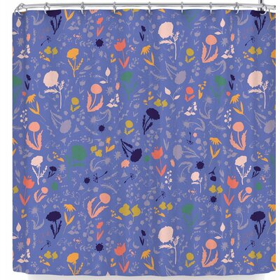 Akwaflorell Pretty Little Flowers 2 Shower Curtain Color: Lavender Blue