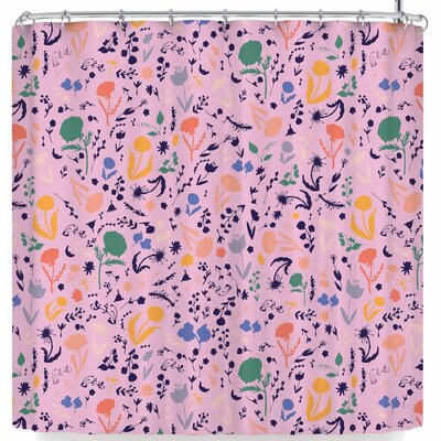 Akwaflorell Pretty Little Flowers 2 Shower Curtain Color: Pink