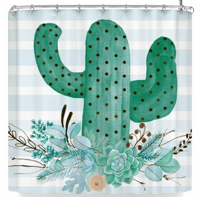 Li Zamperini Cactus Party Ii Shower Curtain