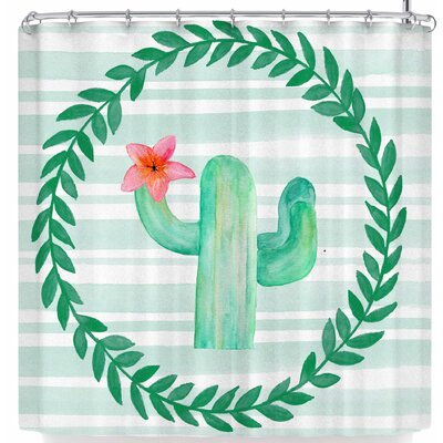 Li Zamperini Cactus Party Shower Curtain