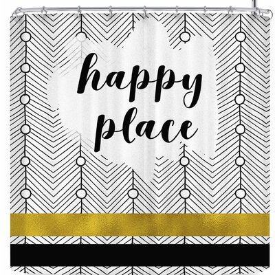 Li Zamperini Happy Place Shower Curtain