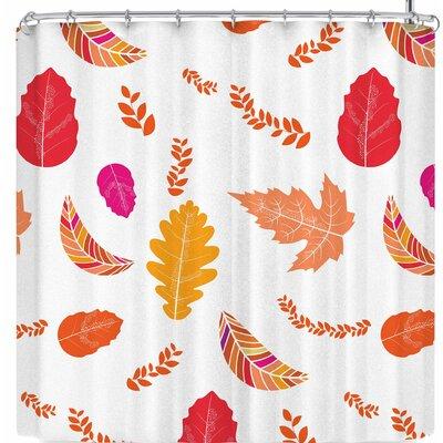 Famenxt Fall Autumn Leaves Shower Curtain Color: Orange