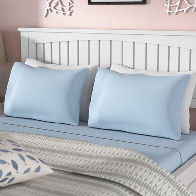 Carlinville 1200 Jersey Sheet Set Size: Queen, Color: Blue