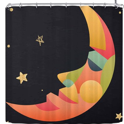 Fotios Pavlopoulos Colorful Moon Shower Curtain