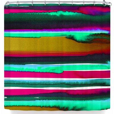 Miranda Mol Sunset Shower Curtain Color: Gold/Green