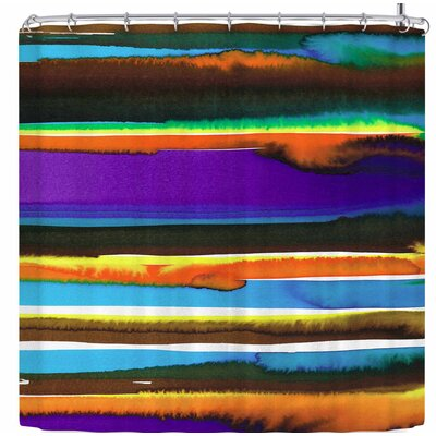 Miranda Mol Sunset Shower Curtain Color: Purple/Gold