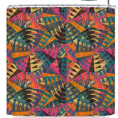 Miranda Mol Tribal Moves Brown Shower Curtain Color: Pink/Orange