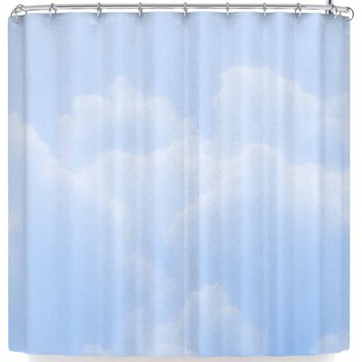 Susan Sanders Candy Clouds Shower Curtain Color: Sky Blue