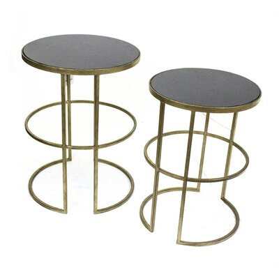 Devonshire Classic Metal 2 PieceNesting Tables