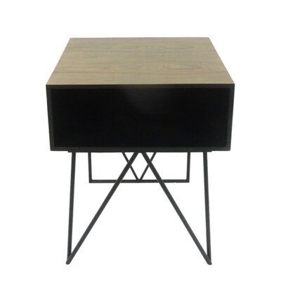 Dickinson Tremendous Wood & Metal End Table