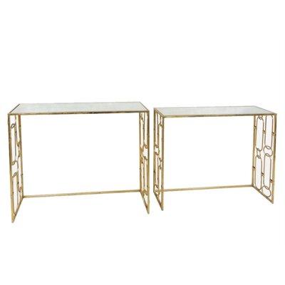 Marvellous Metal & Glass Console Tables, Gold, Set Of 2 1475E5C33C7341F98F0B6582A2E9B75C