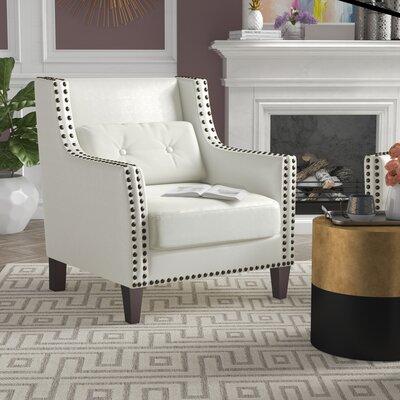 Fairhillsr Armchair Upholstery: White
