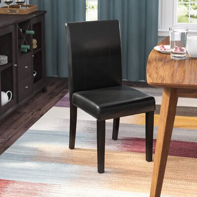 Kasey Upholstered Dining Chair Upholstery: Black